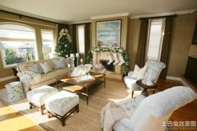 别墅客厅圣诞装饰品图片