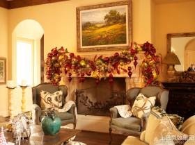 客厅圣诞装饰品图片