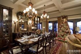 别墅餐厅圣诞装饰品图片