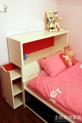 儿童房床头置物柜效果图