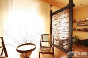 中式家装艺术玻璃隔断贴图