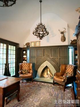 客厅壁炉设计图片大全