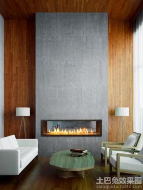 简约客厅壁炉设计图片