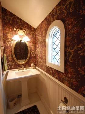 卫生间实木护墙板效果图