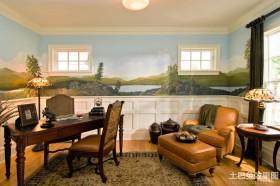 书房护墙板效果图欣赏