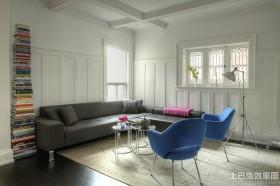 现代风格客厅护墙板效果图