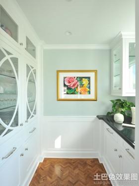 厨房实木护墙板效果图