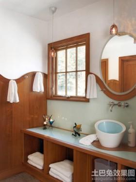 卫生间实木护墙板效果图欣赏
