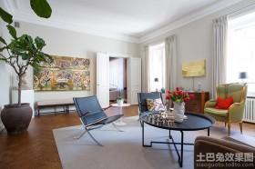 时尚混搭风格两室两厅客厅装修图片