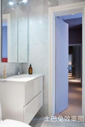 简约卫生间洗手台效果图