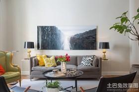 时尚混搭风格客厅装饰画图片