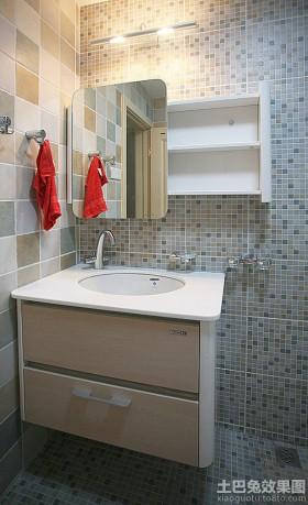 简约卫生间洗手盆柜组合图片