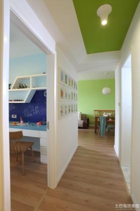 极简风格两室一厅过道装修效果图