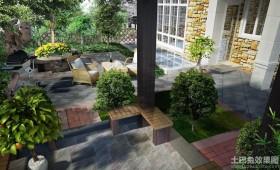 别墅庭院景观图片