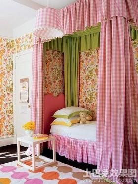 儿童房遮光床帘效果图大全2013图片