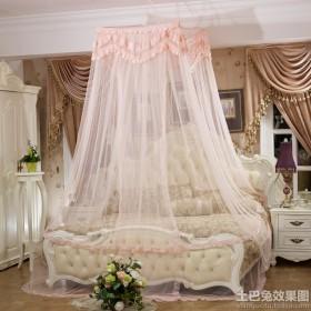 欧式卧室床帘帘效果图欣赏
