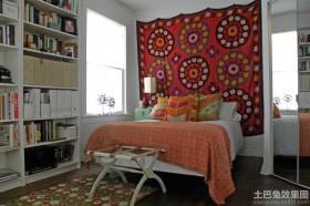 卧室艺术挂毯图片