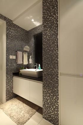 洗手间马赛克背景墙装修效果图大全 卫生间洗手台