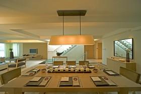 别墅餐厅现代灯具设计效果图