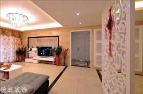 二居室电视组合柜装饰效果图