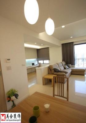 极简风格80平米两室一厅装修效果图