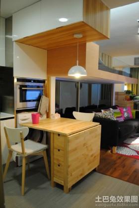 家庭实木餐厅吧台效果图