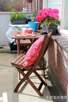 家庭露天阳台装修效果图