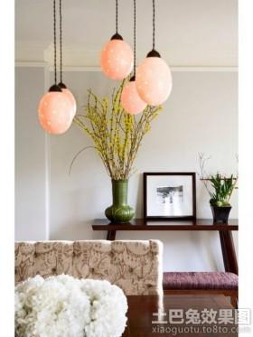 家居创意吊灯装饰效果图片