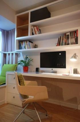 家装书房工作区效果图片