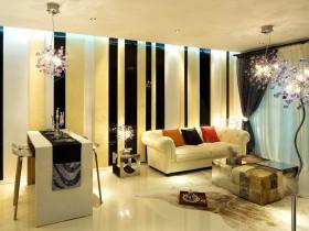 现代小户型客厅沙发背景墙装修效果图大全