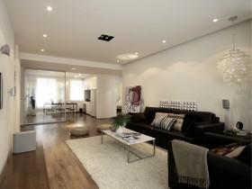 现代风格二居室客厅装修效果图片