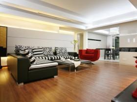 现代简约两室两厅客厅装修效果图欣赏