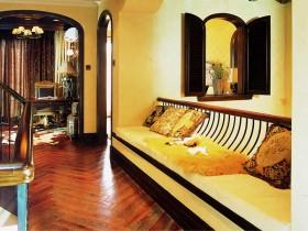 家庭别墅过道木地板贴图
