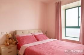 粉色温馨儿童房装修效果图
