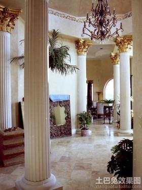 别墅石膏罗马柱图片