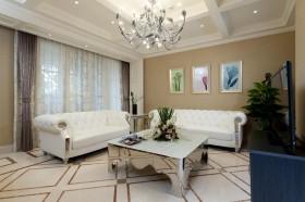 欧式风格客厅沙发茶几效果图片