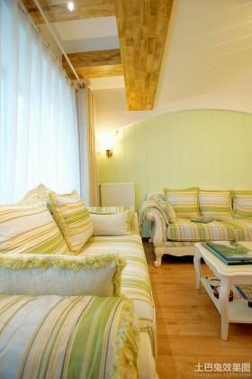 田园风格客厅布艺沙发图片欣赏