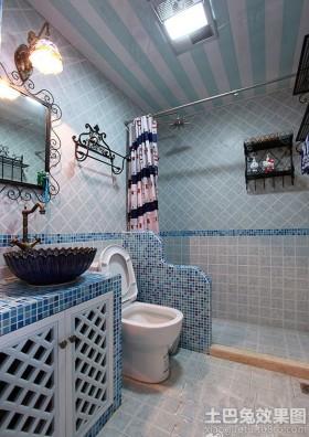 地中海风格卫生间柜式洗手盆图片