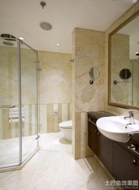 干湿分离卫生间柜式洗手盆图片
