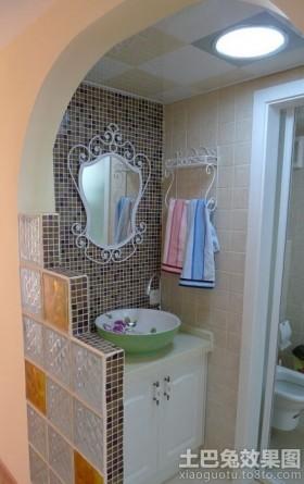 家庭洗手间柜式洗手盆图片