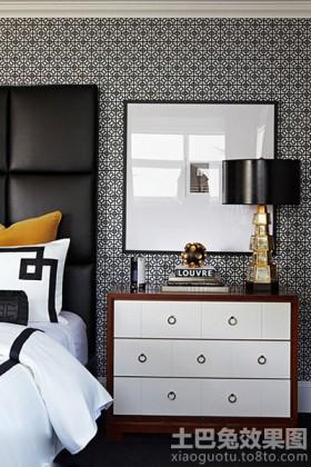 现代简约卧室柜子装修效果图