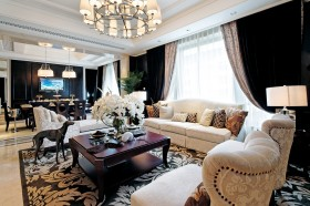 欧式风格客厅沙发茶几效果图大全