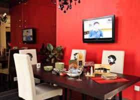 家庭餐厅电视墙效果图