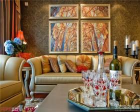 混搭风格沙发背景墙效果图大全2013图片