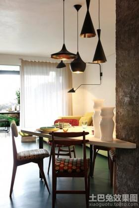 混搭风格65平米小户型餐厅吊灯效果图