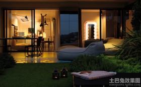 小户型公寓室外阳台装修效果图