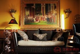 古典欧式沙发背景墙装饰画效果图