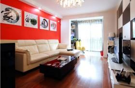 现代70平米两室两厅客厅装修效果图