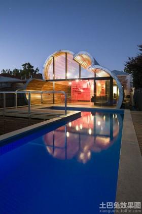 现代风格云屋别墅庭院设计