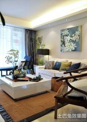 二居室中式家装客厅效果图